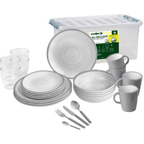 Brunner All Inclusive Dishes Set 36 Pieces, grijs